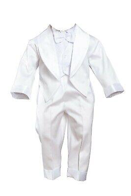 62 68 74 80 Taufanzug Festanzug Weiß Hochzeitsanzug Anzug Cord 5 Teilig Set Gr