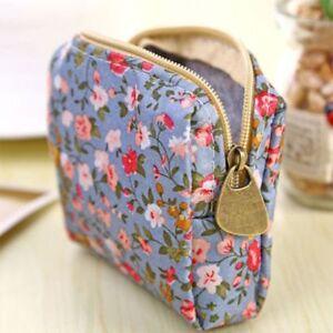 Lovely-Flower-Pattern-Fashion-Key-Card-Storage-Coin-Purse-Earphone-Bags-Wallet