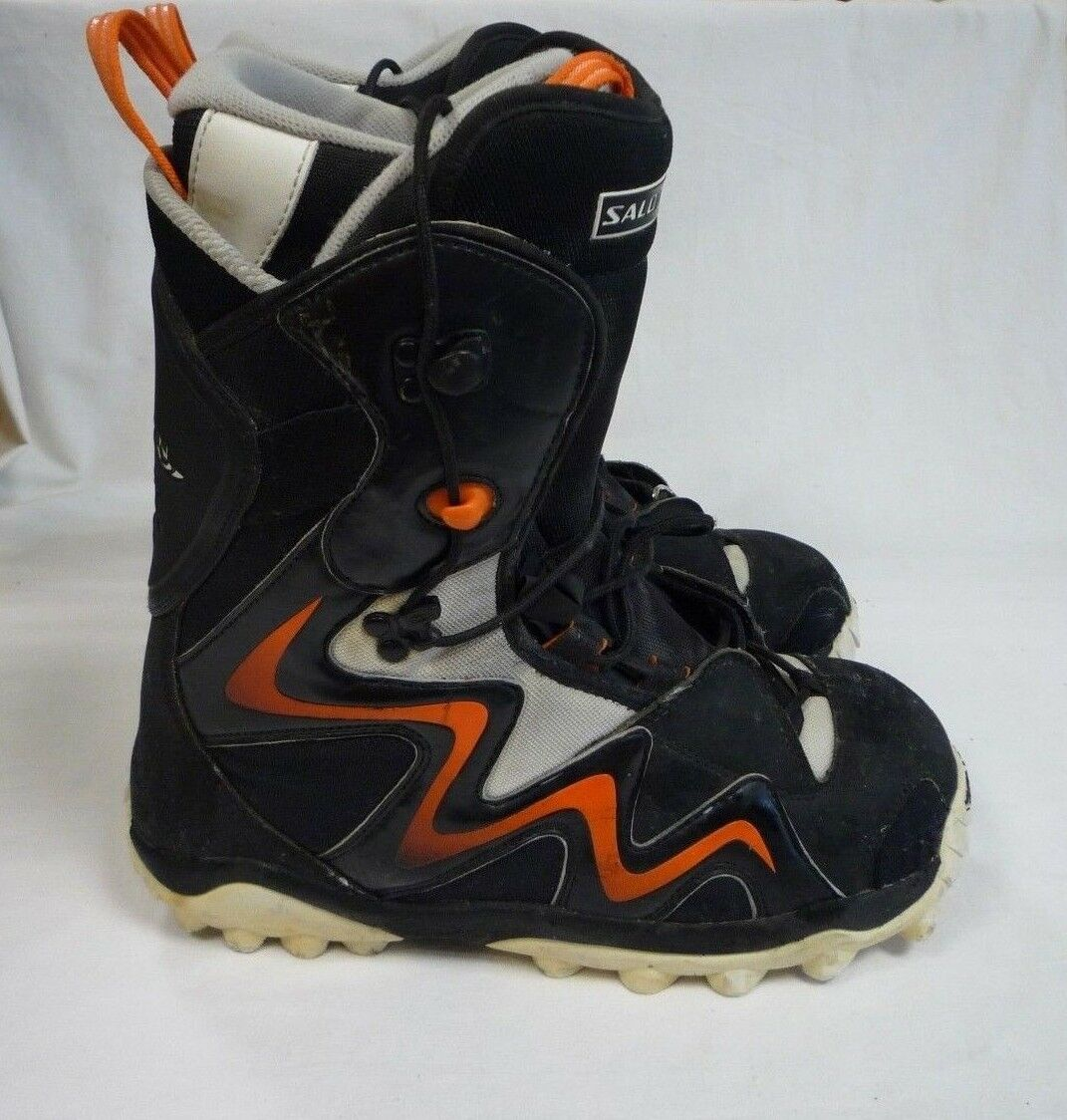 Salomon Snow Boot Black & orange UK 11 Size 11 UK Ideal for Winter or Snow Holiday 9a36aa