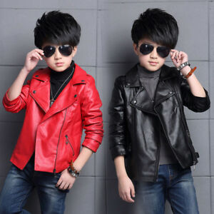 Winter-Toddler-Kids-Boys-Faux-Leather-Jacket-Warm-Outwear-Motorcycle-Coat-Gifts