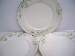 3-MADDOCK-039-S-LAMBERTON-WORKS-DINNER-PLATES-ROYAL-PORCELAIN-FLORAL-SWAGS