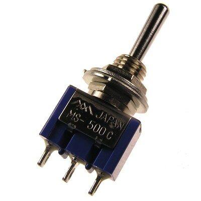 MIYAMA MS-500C Kippschalter 1-polig EIN-AUS-EIN Schalter 1xUM 6A 125V AC 091168