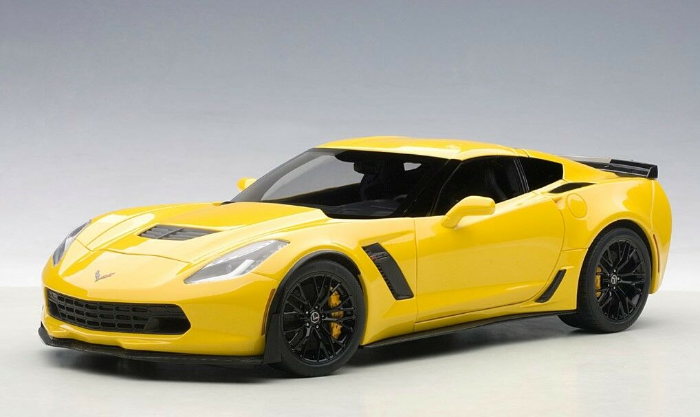 71263 autoart 1,18 chevrolet corvette z06 (c7) (gelb) modellautos