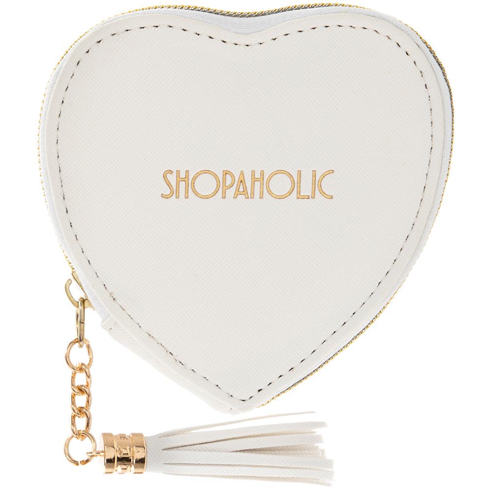 Leonardo Small White Heart Coin Purse - Shopaholic #LP71930
