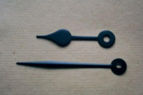Quartz euroshaft Noir Laiton Blanc Cathédrale Serpentine Spade Horloge mains métal