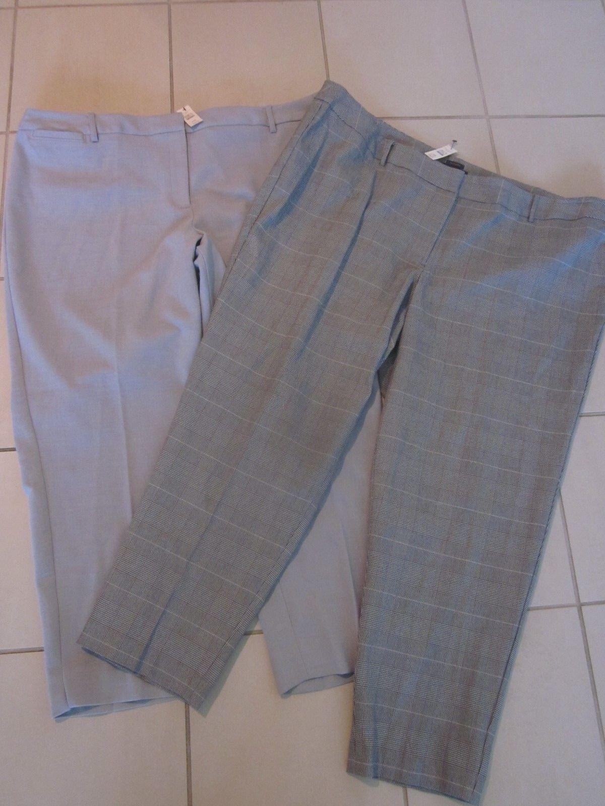 TALBOTS Grey Herringbone Dress Pants LOT OF 2  228 Hampshire Size 24W NWT