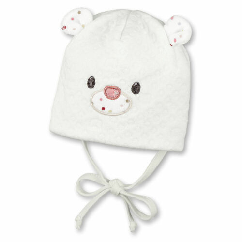 Sterntaler Baby Teddy Wintermütze zum Binden in ecru warme Bindemütze