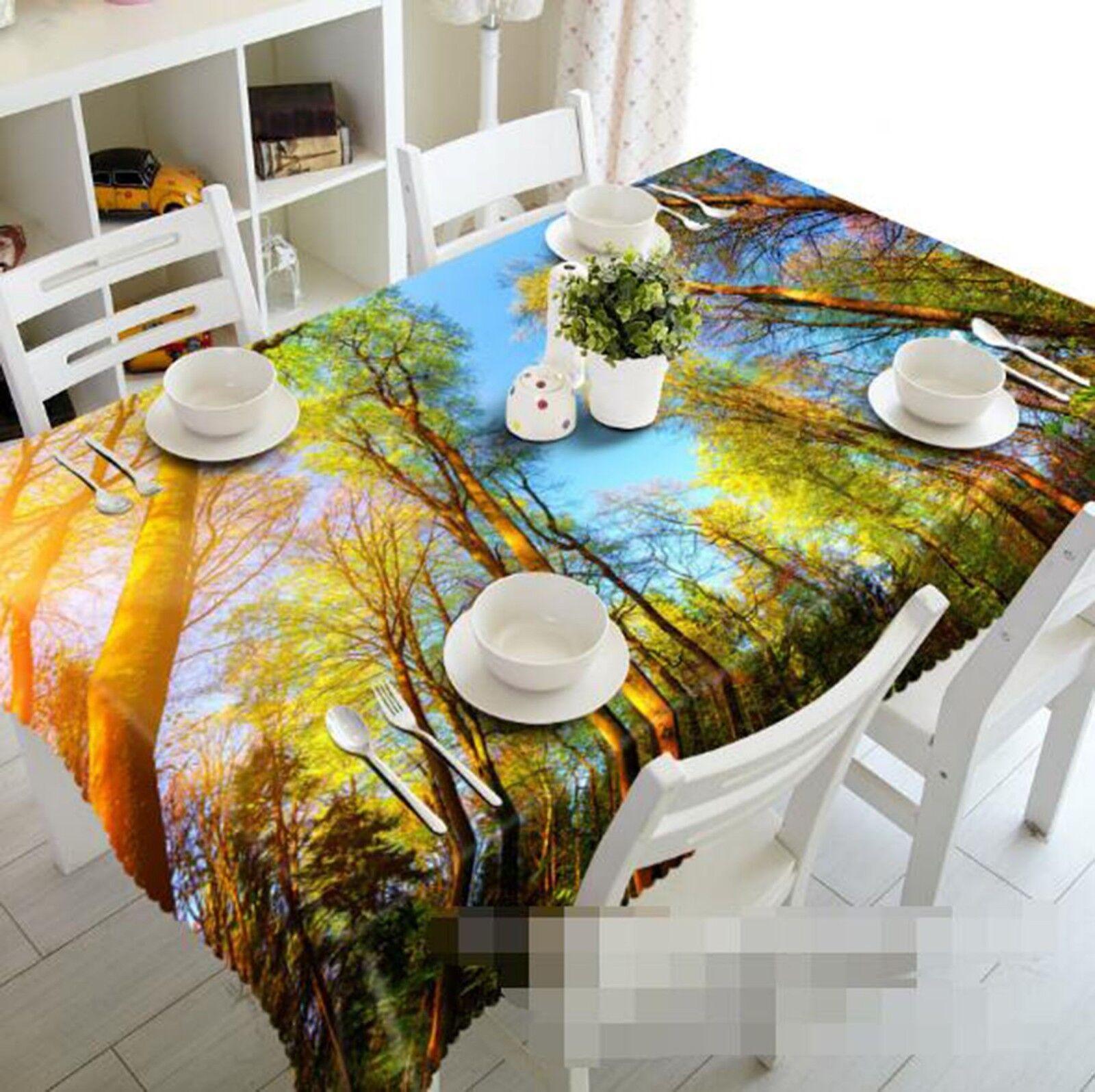 3D Sunlight Plant 054 Tablecloth Table Cover Cloth Birthday Party Event AJ Lemon