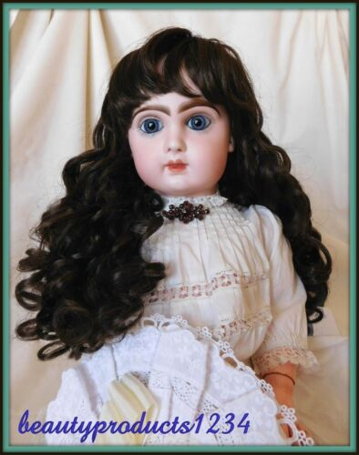 NEW DOLL WIG Size 12 DARK BROWN For JUMEAU Bru Steiner New Dolls LOVELY!~
