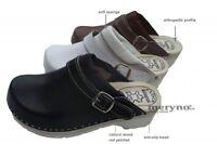 Women Shoes Clogs Doctor Nurses Leather Fpu10p
