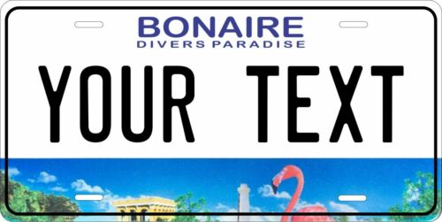 Bonaire 2013 License Plate Personalized Car Auto Bike Motorcycle Custom