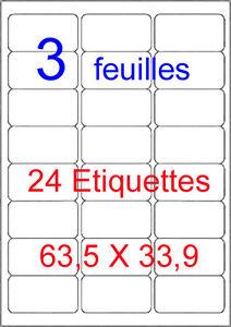 72-Etiquette-Autocollante-Blanche-63-5-X-33-9-mm-Mon-Timbre-En-Ligne-type-L7159