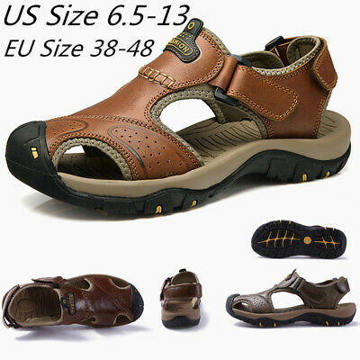 38-48 Mens Beach Water Shoes Closed Toe Sandals Flat Breathable Sports Summer SZ