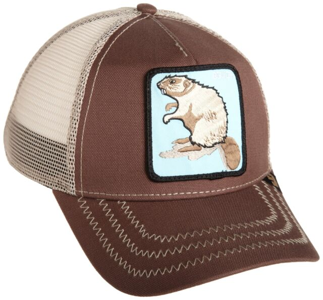 ea556912 Goorin Bros. Men's Animal Farm Snap Back Trucker Hat Brown Beaver One Size