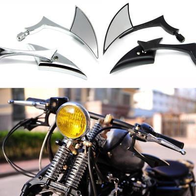 2x Custom Black Blade Side Rearview Mirror For Motorcycle Street Standard Naked Bike Cruiser Chopper
