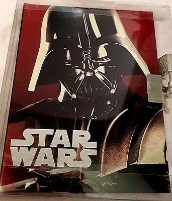 Candido Agendina 12x15 Con Lucchetto - Star Wars Darth Vader Fenner - Disney - Nuova