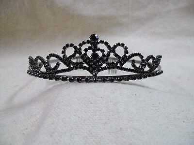 Small Black Gothic Tiara Ballerina Evil Queen Wicked Princess Vampire Ravenna