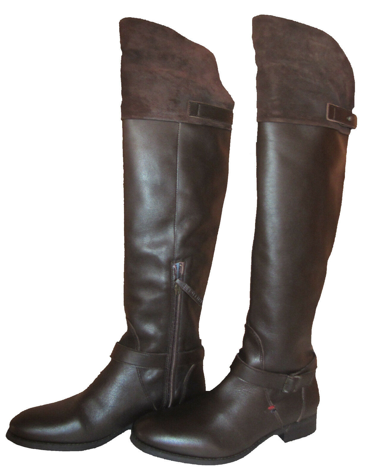 Tommy Hilfiger hamilton 12c [] señora botas de cuero, botas marrón nuevo & OVP