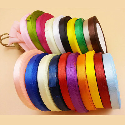 25 Yards Silk Satin Ribbon Wedding Party Decor Wrap Christmas Apparel SewiFha