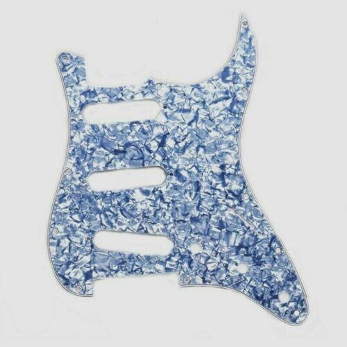 Schlagbrett Für Stratocaster SSS 11 Löcher in Blau Perle Farbe