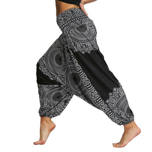 Damen Harems Pumphose Aladin Pluder Baggy Ballon Yoga Alibaba Hosen Sommerhose
