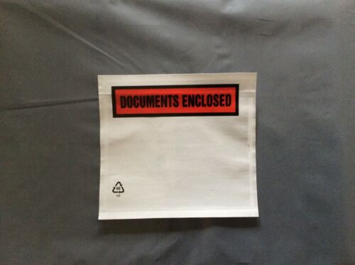40 A7 DOCUMENTS ENCLOSED ENVELOPES WALLETS 123mm X 110 mm WITH FREE POSTAGE
