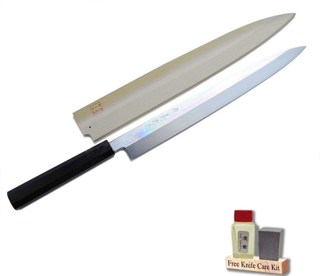 Mizu honyaki Miroir fini Yanagi 30 cm Japonais Sushi Chef Couteau Yoshihiro