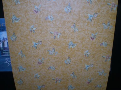 Tuscan Golden Yellow Wallpaper with Small Flowers by Fine Decor  98362