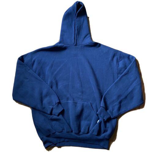 Vintage Navy Blue Russell Athletic Blank Hoodie