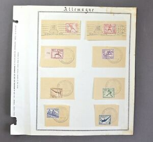 Timbres-Allemand-Jeux-Olympique-1936-8-Valeurs-Y-amp-T-565-a-572-Obliteration-J-O