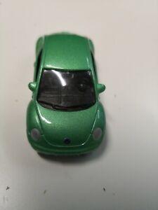 Welly-VW-VOLKSWAGEN-NEW-BEETLE-verde-n-2061-vetrina-modello-da-collezione
