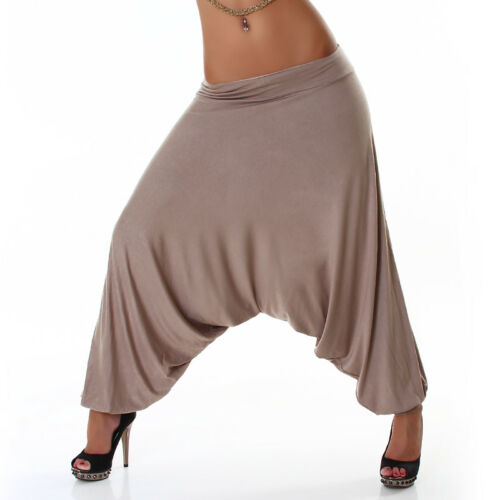 Pantaloni Larghi Donna Harem Fitness Aladdin Rave Hippie Yoga Cavallo Basso