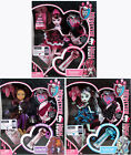Original 3 Monster High Sweet 1600 Dolls - Draculaura + Frankie + Clawdeen - New