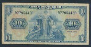FR-of-Germany-Rosenbg-258-Kenn-Bst-R-used-III-1949-10-German-Mark-8981317