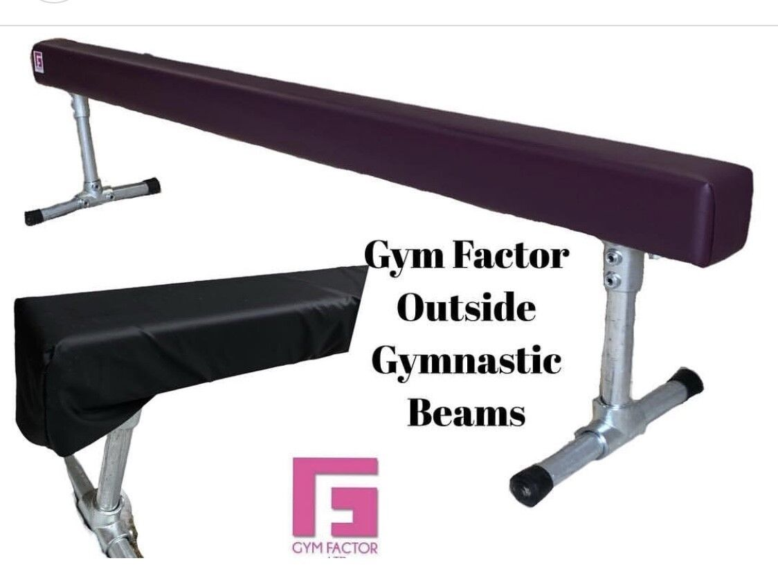 6 or 8ft GYMNASTIC TRAINING BEAM FOR OUTSIDE GARDEN USE BEAM BY GYM FACTOR LTD