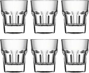 Circleware-Scorchers-Vaso-conjunto-de-6-piezas-1-5-Oz-Claro-cristaleria-Base-Pesada