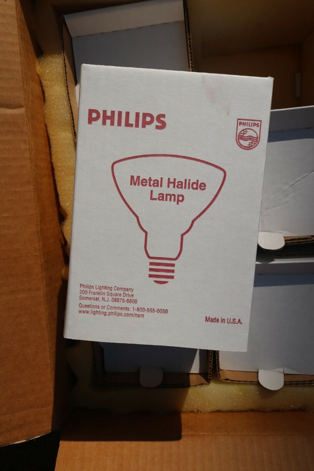 Box of 6 - Philips 30858-5 - 175 Watt Metal Halide Clear MH175 RFL PAR-38