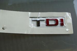 Genuine SEAT Chrome Red TDI  badge  1M6853687KGQF