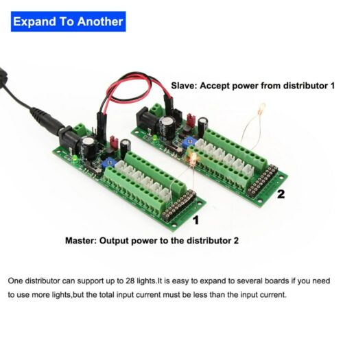 1:87 Train Power Distribution Control Board Distributor Street Light Ho Gauge H0