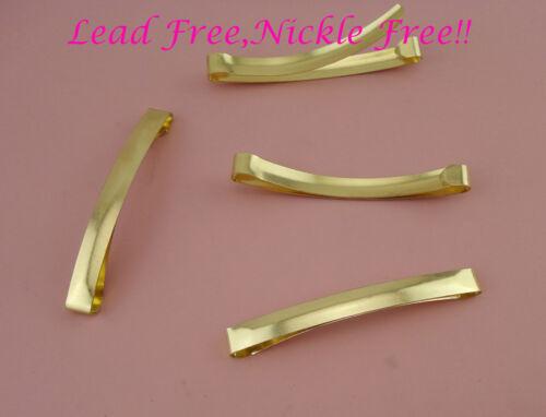 20PCS Gold 8mm*8.0cm Plain Metal Slide Hair clip Barrette,nickle free,lead free