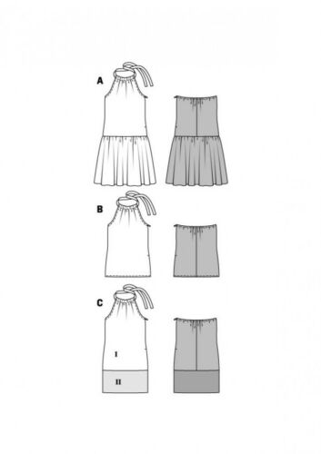 Burda Ladies Easy Sewing Pattern 6655 Drawstring Neckline T... Free UK P/&P