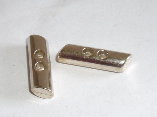 6 pieza de metal botones botón knebelknopf 25x8 mm oro mercancía nueva inoxidable #643.2#