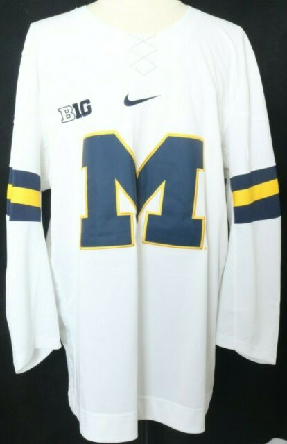 3707c1f69 NEW University of Michigan Wolverines Authentic Nike Hockey Jersey Navy  Men's L
