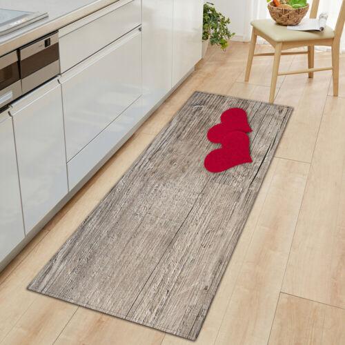 3D Print Bath Mat Absorbent Soft Kitchen Floor Area Rug Non-slip Carpet Durable
