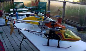 Pair de Morley Mavericks RC helicpters Collection