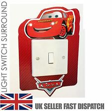 Disney CARS Light Switch Surround Sticker Cover Vinyl Lightning McQueen Skin