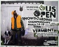 Burton Snowboard 2006 Us Open Promotional Poster Mint Old Stock
