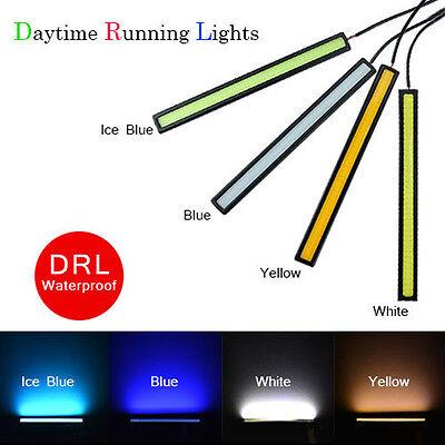 Super Bright Car COB LED 12V Lights -DRL Fog Driving Lamp Waterproof 4 colors
