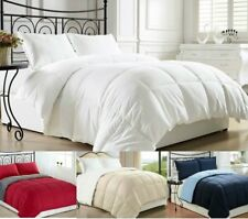 Luxury Reversible Premium Goose Down Alternative Comforter - 6 Sizes 10 Colors