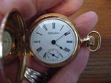 Gorgeous HAMPDEN DUEBER 14K Pendant Pocket Watch-Full Hunting-c1899-Working-15J
